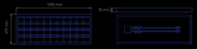 Paneles solares de 12 voltios SL 366. Plano de medidas