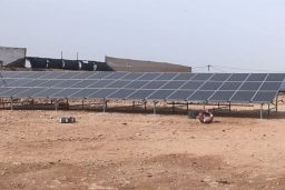 "First photovoltaic installation of ""Solaico, photovoltaic solar panels"" in El Aaiún (Western Sahara)."