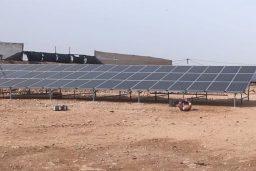 "First photovoltaic installation of ""Solaico, photovoltaic solar panels"" in El Aaiún (Western Sahara)."