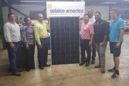 Primer Panel Solar Fotovoltaico fabricado en Republica Dominicana por Solaico América