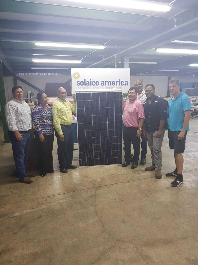 First Photovoltaic Solar Panel manufactured in the Dominican Republic by Solaico América